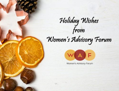 Holiday Wishes from Women's Advisory Forum
