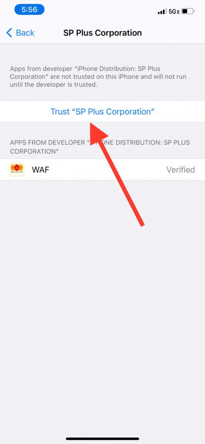 how to download WAF mobile app step 5