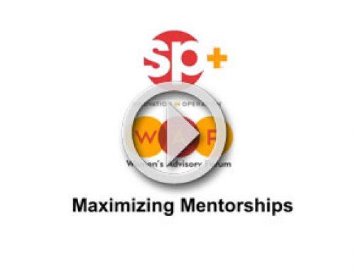 WAF Presents Maximizing Mentorships Webinar